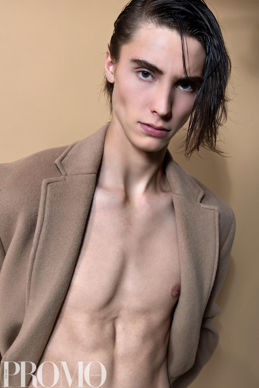 Tan Coat: Calvin Klein