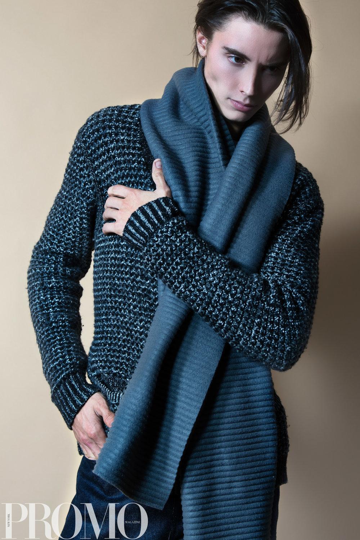 Rag & Bone NY Grey knit sweater Armani Grey scarf Han Kjobenhaven Jeans Our Legacy White long sleeve