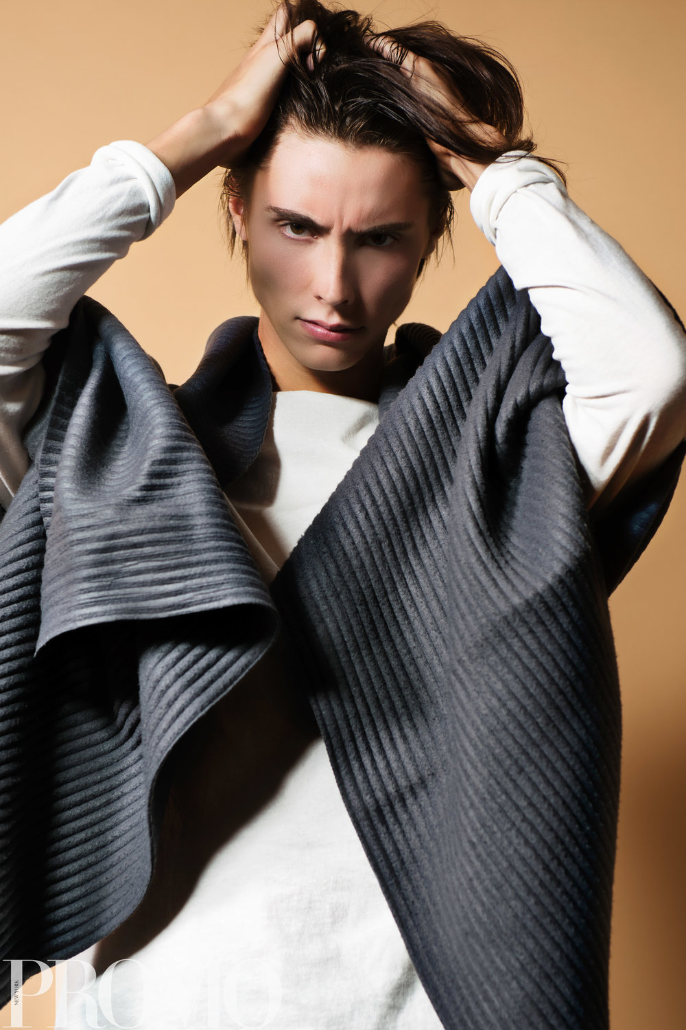 Armani Grey scarf Our Legacy White long sleeve