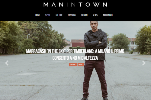 The  Manintown  homepage.