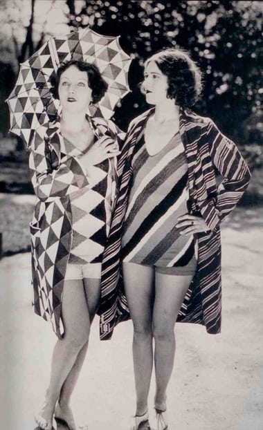 Bathing suits designed by Delaunay in the 1920s