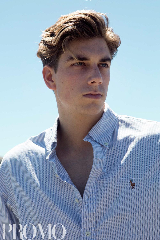 White long sleeve collard shirt: Ralph Lauren