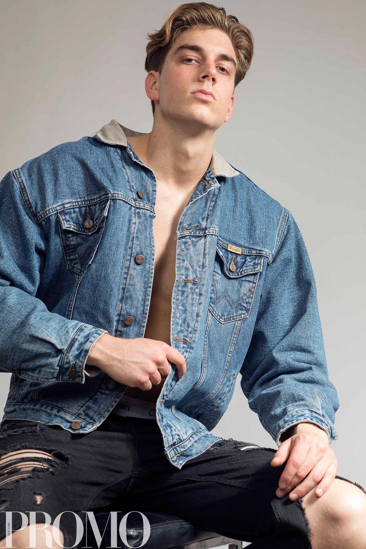 Denim Jacket: Wrangles Black ripped jean: H&M