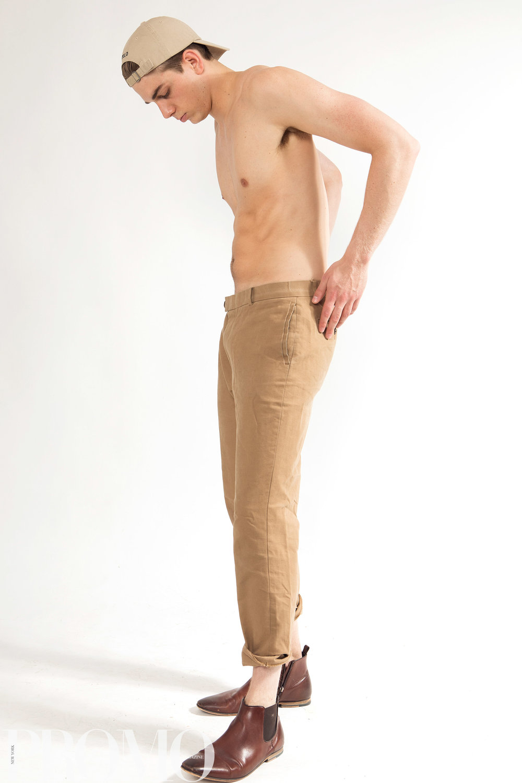 Brown long pants: H&M Hat cream colour: Ralph Lauren