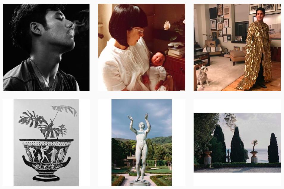 Six recent posts on Joseph Altuzarra's personal Instagram feed.