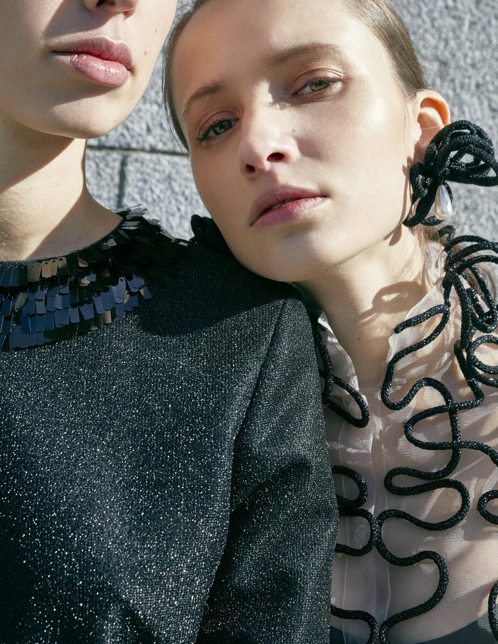 Sous le ciel de Madrid - Model: Sasha ChulkovaModel: Paula BhritoPhotographer: Mª Teresa Sánchez PalomoWardrobe Stylist/Fashion Designer: Christina PriethAssistant: Irene Rosa