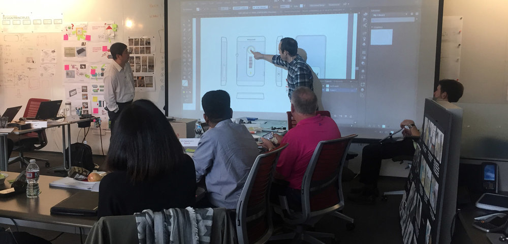 4-Day On-Site Workshop in Seattle.  That's me pointing at an early concept.