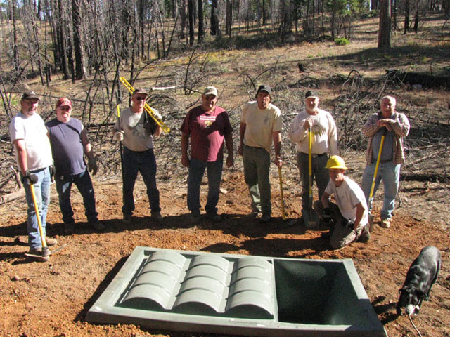 Mule Deer Foundation Installs Dome Top 500 Guzzler