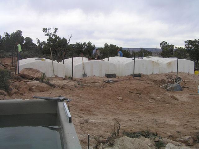 Water Storage Tanks and Wildlife Drinker