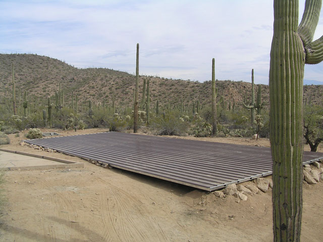 Large Water Collection Roof System for Guzzlers in Arizona
