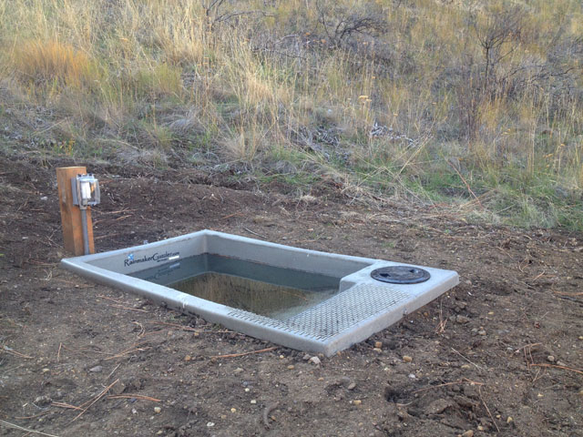 Rainmaker Wildlife Water Drinker Installed