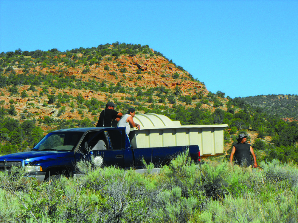 This 1000 gallon unit can be transported by truck into remote sites.