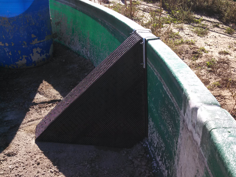 Ramp Secured to Tank