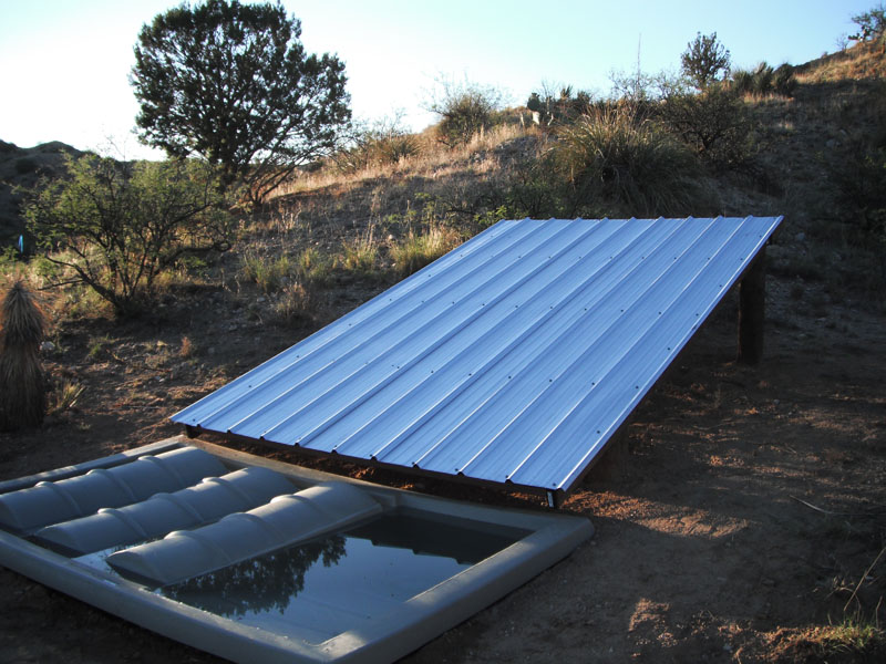 Offset Collection Roof for Wildlife Guzzler