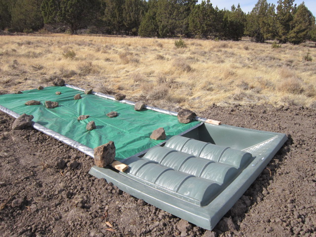 Simple Tarp Collection System for Wildlife Guzzler