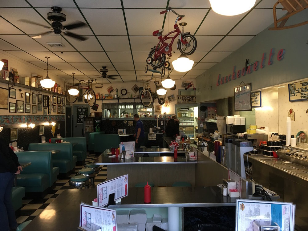 Inside Burleigh's Luncheonette ©2017 David R. George III