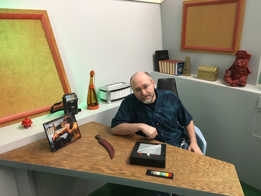 Aaron Rosenberg at Captain Kirk's Desk ©2017 David R. George III