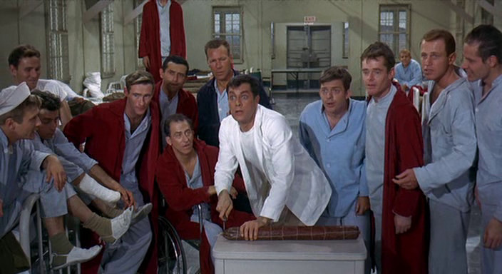 """Tony Curtis as Corporal Jackson """"Jake"""" Leibowitz in  Captain Newman, M.D. 's Ward 7"""