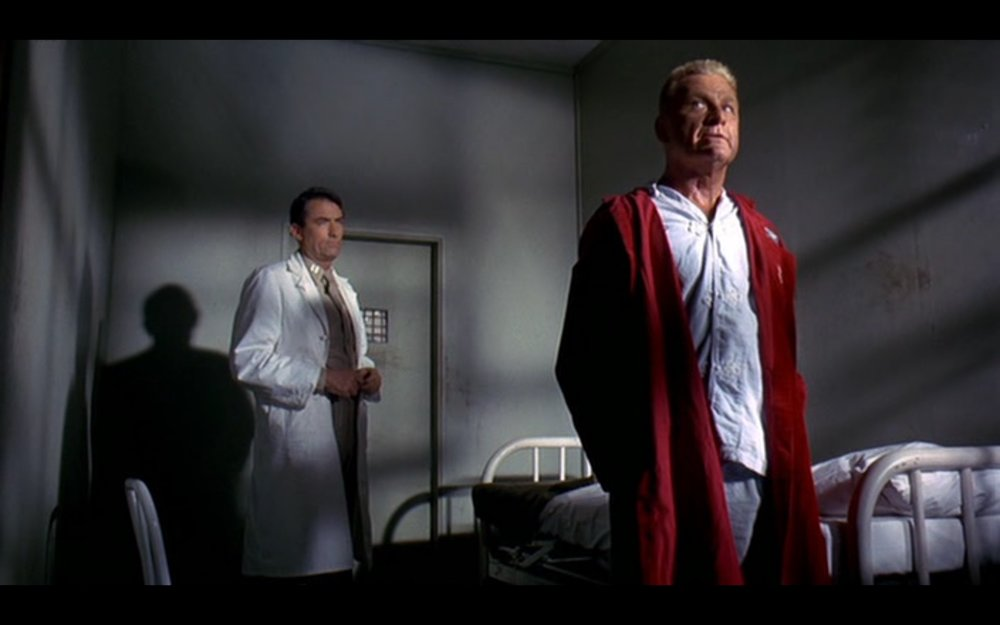 Gregory Peck and Eddie Albert in Captain Newman, M.D.