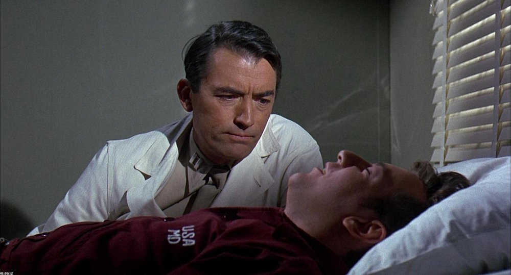 Gregory Peck and Bobby Darin in  Captain Newman, M.D.