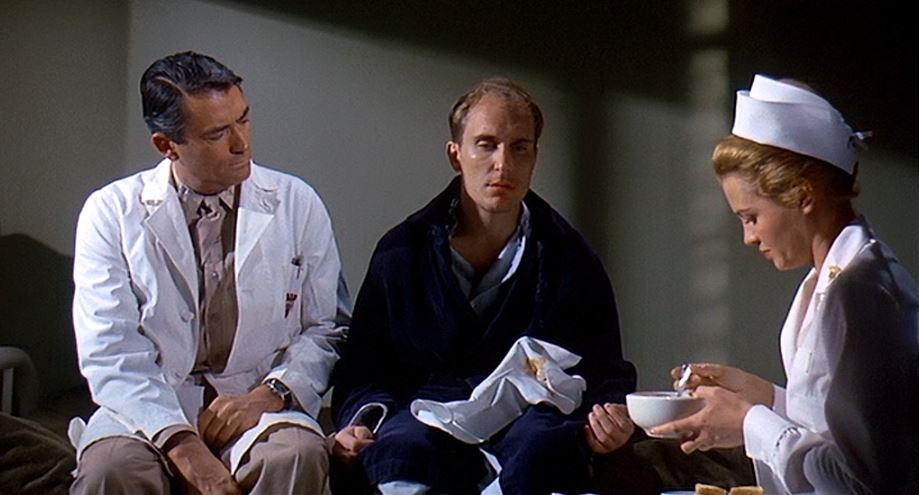 Gregory Peck, Robert Duvall, and Angie Dickinson in  Captain Newman, M.D.