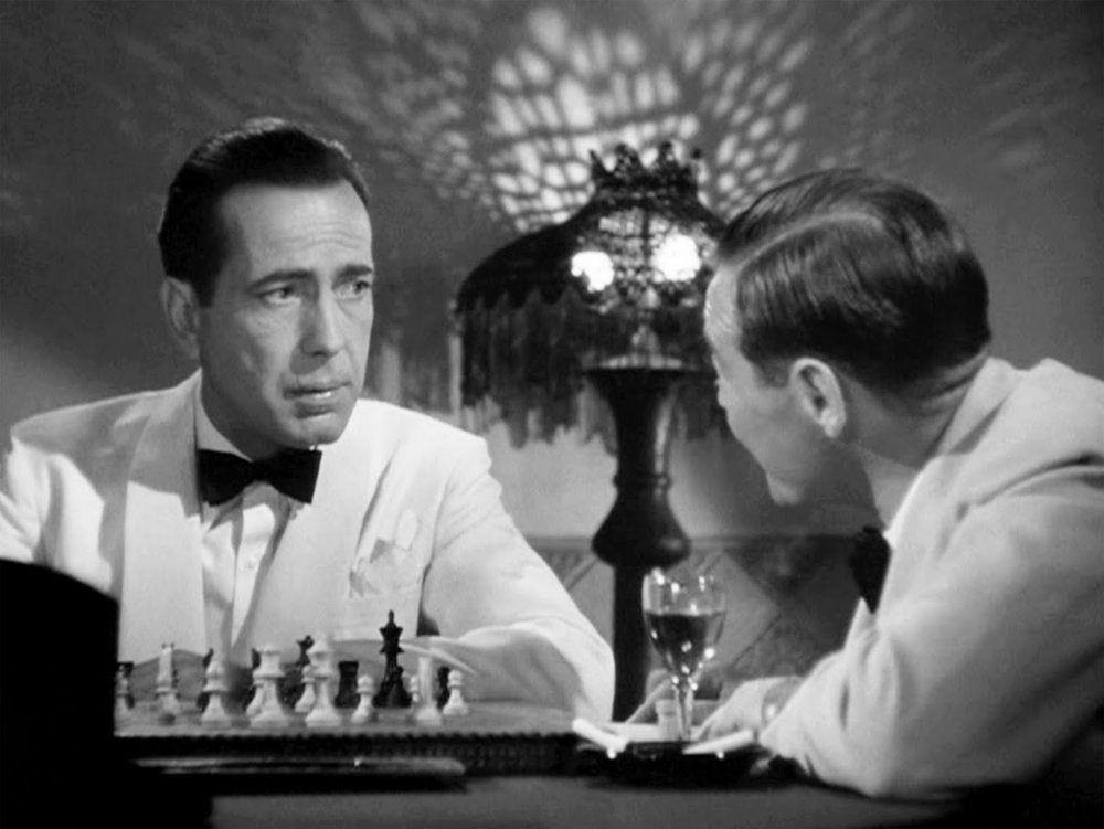 Humphrey Bogart and  Peter Lorre  in  Casablanca
