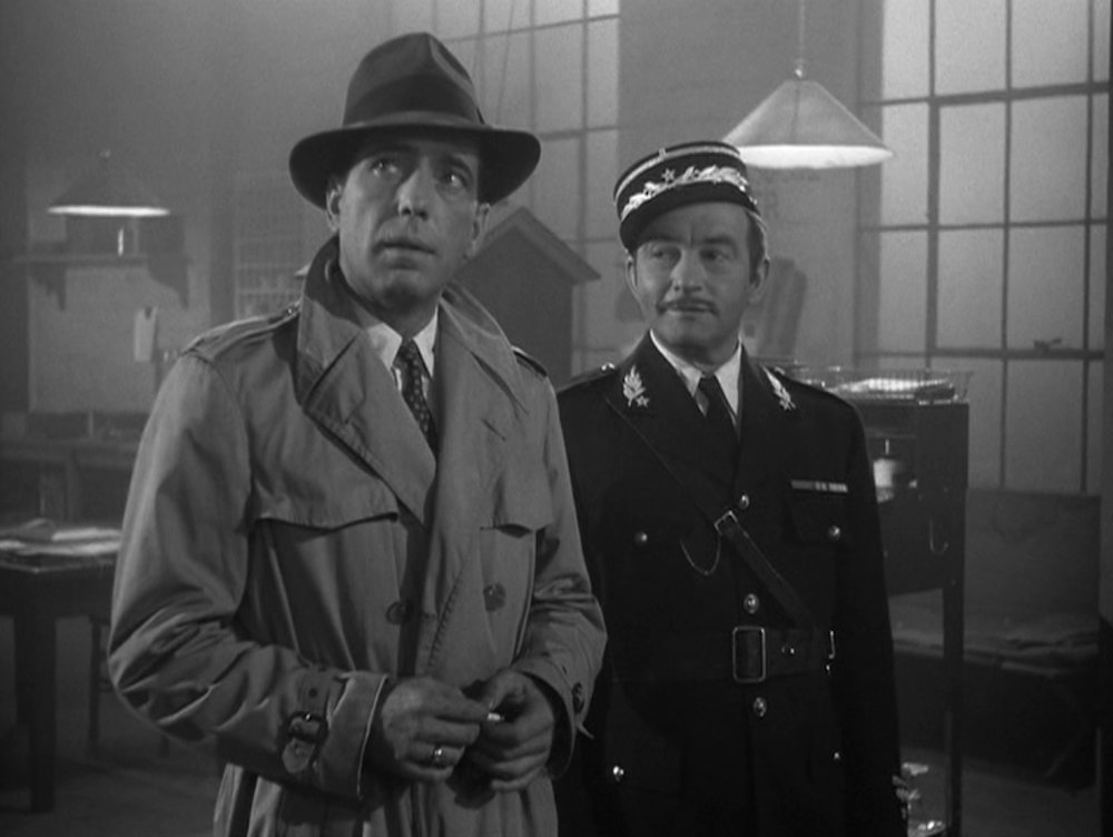 Humphrey Bogart and Claude Rains in  Casablanca