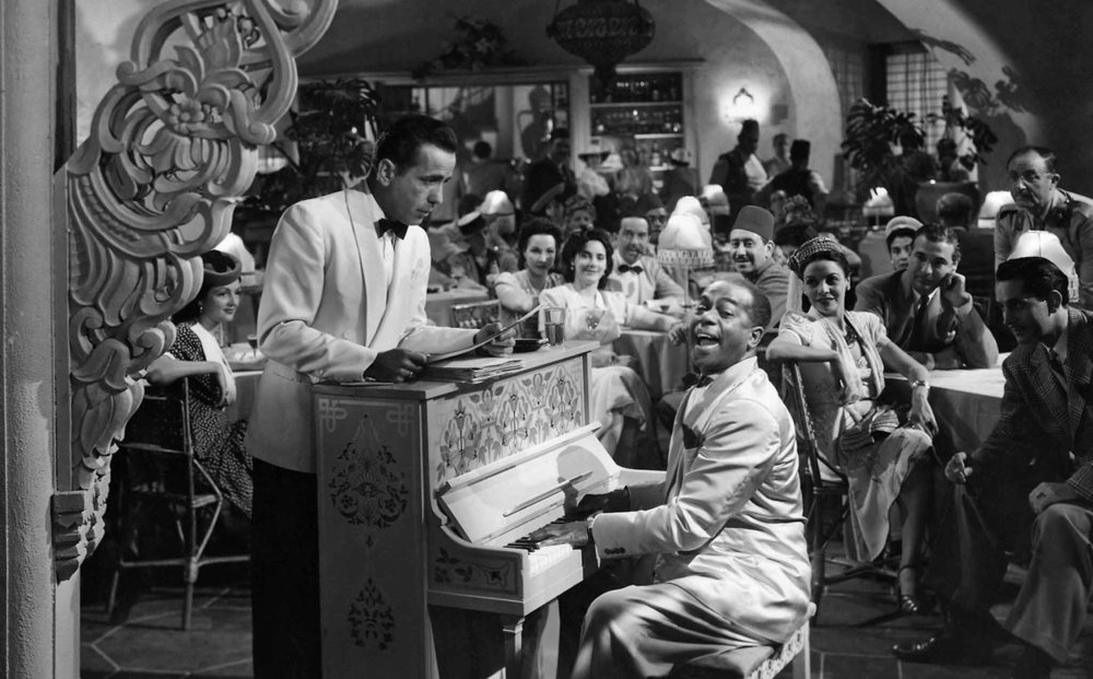 Everybody comes to Rick's: Humphrey Bogart and Dooley Wilson at Sam's piano in  Casablanca