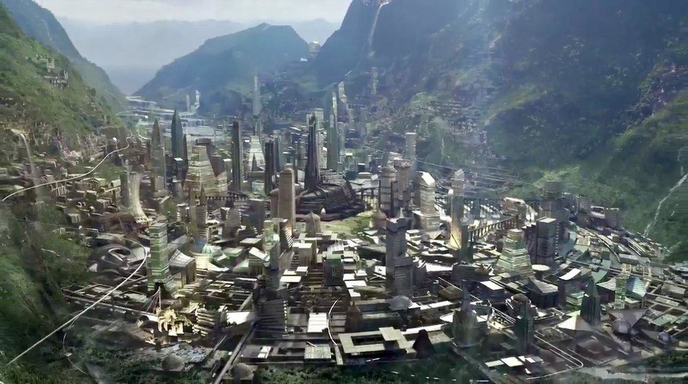 Wakanda, hidden from the rest of the world by a cloak