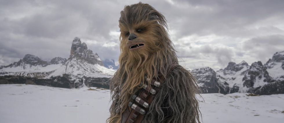 Joonas Suotamo as Chewbacca in  Solo: A Star Wars Story