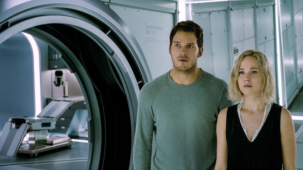 Chris Pratt and Jennifer Lawrence in  Passengers