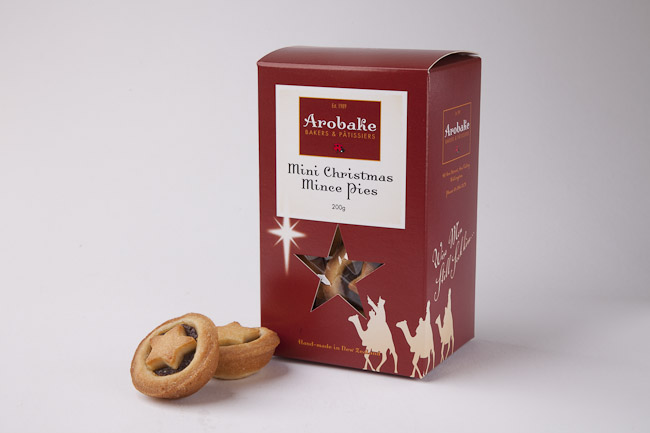 Christmas mince pies - The perfect gift for friends and family, or impress your clients or staff with this stunningly packaged award winning Christmas mince pie. Packed with a spicy, sherry-soaked fruit filling and wrapped in a butter sweet pastry. $16.90