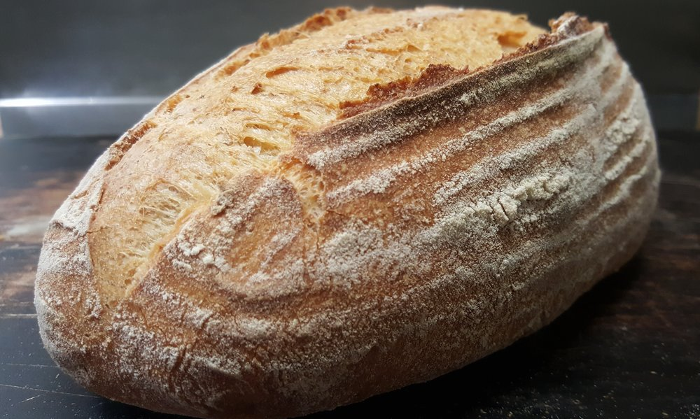 White Sour $5.90   Wheat flour, water, rye flour, wholemeal flour, salt, sour starter.