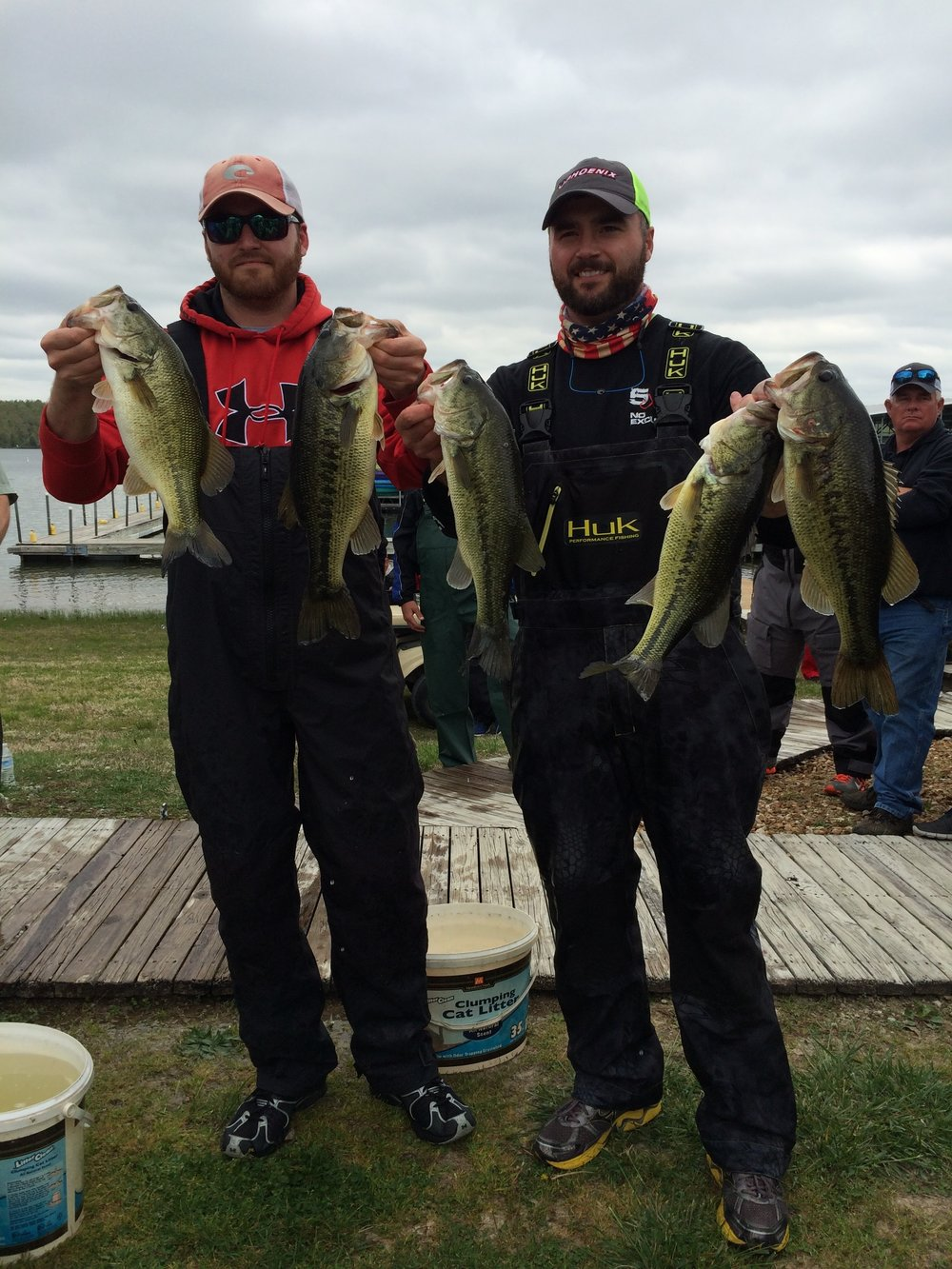 Hancock brothers winning the April Buddy Bass Tournament in 2016