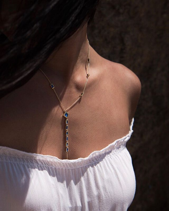 Our Lariat Necklace can effortlessly add a touch of royalty to any outfit. Press the link in our bio to shop now. #HowDoYouReign #ReignSapphires