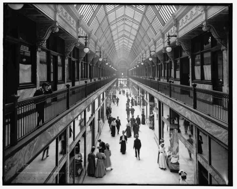 The Colonial Arcade in 1908, Courtesy of Library of Congress via clevelandhistorical.org
