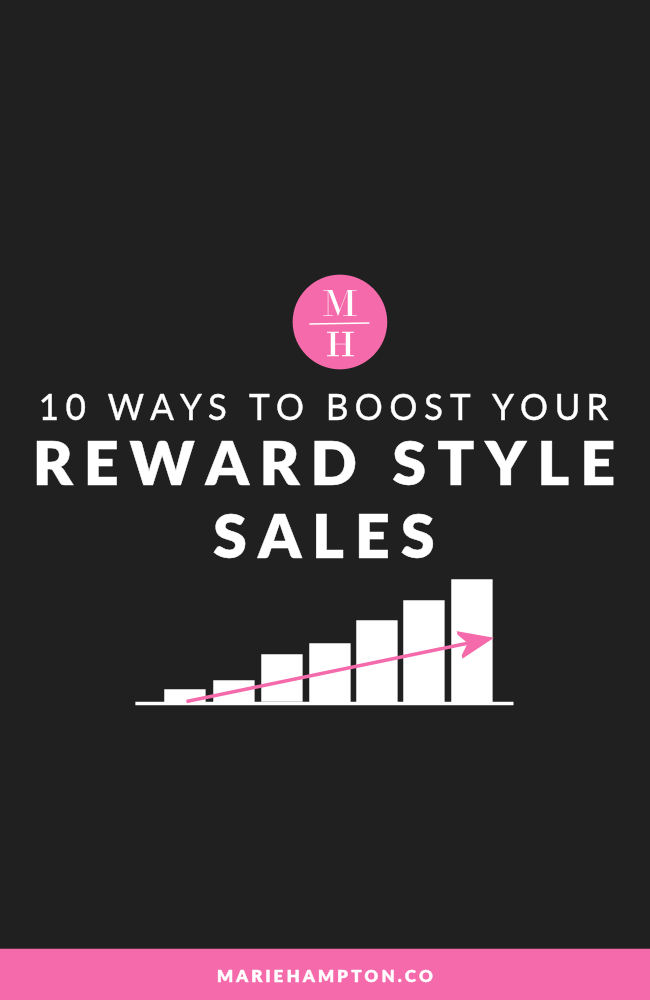 Are you a fashion blogger looking to increase your sales and income from your affiliate program RewardStyle? Click the image to read the ten ways that you can boost your revenue this quarter.