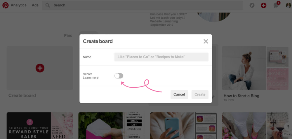 5 Creative Ways to Use Pintererst Secret Boards // Pinterest boards aren't just for wedding planning and fattening recipes! Find out my favorite ways to get the most of the Secret Board feature! // Click the image to read the full post.