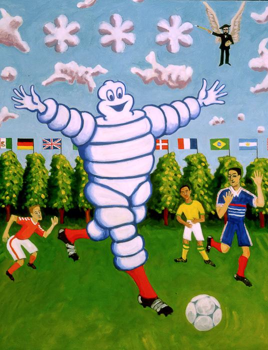 Le joueurs de football