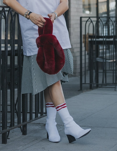 Stretch Fabric Sock Boots