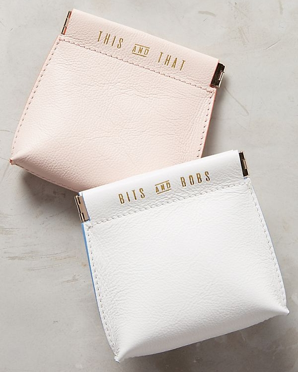 Jet Set Mini Pouch by Anthropologie, $24  http://bit.ly/jetsetminipouch You know you always have little things that need a pouch. I do - this is so perfect to have especially when traveling. Great for hair ties, earbuds, etc. She'll definitely thank you for it!