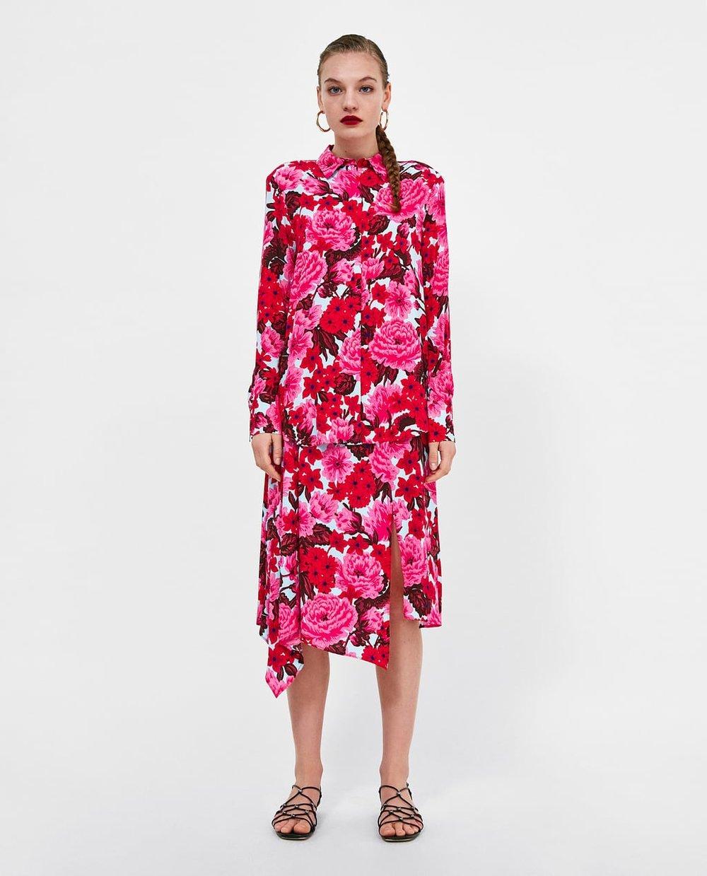 Floral Top+Skirt