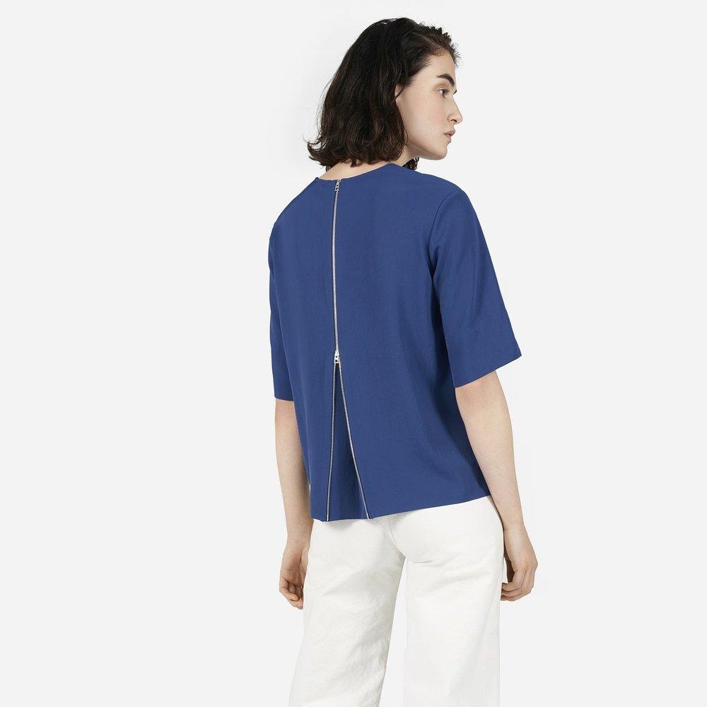 Weave Back Zip Top, multiple colors