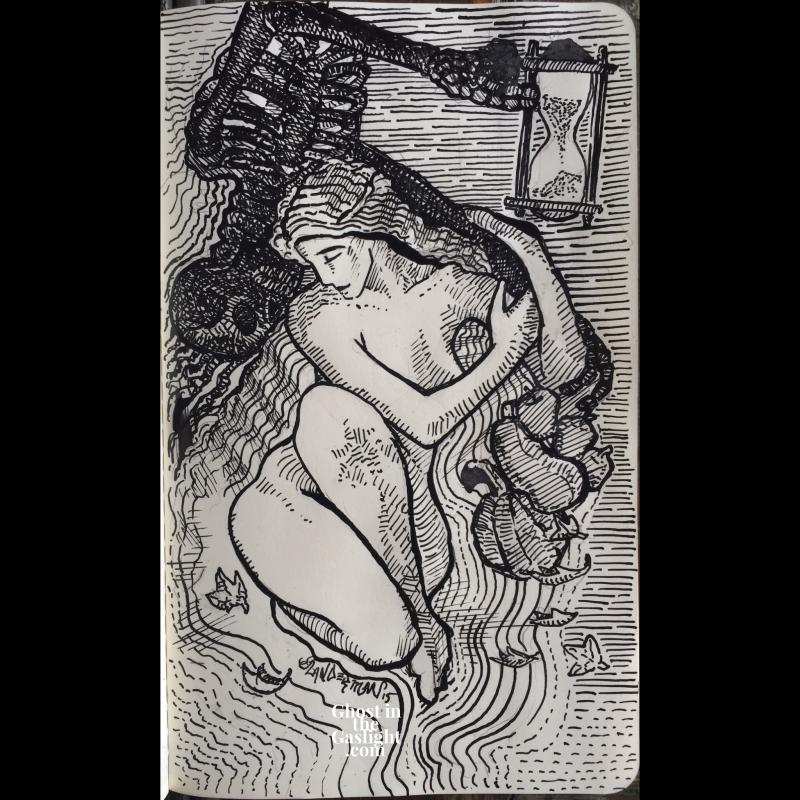 inktober15-deathandthemaiden