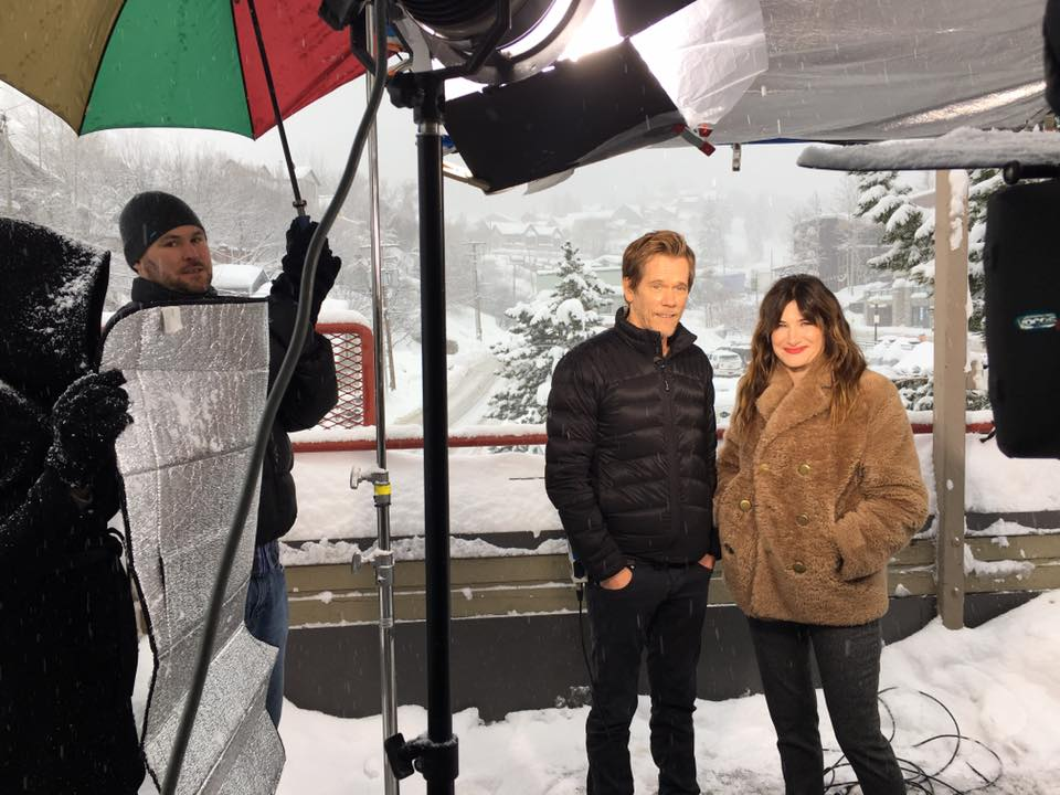 Kevin Bacon and Co-star for Access Hollywood Live at Park City Sundance Film Festival