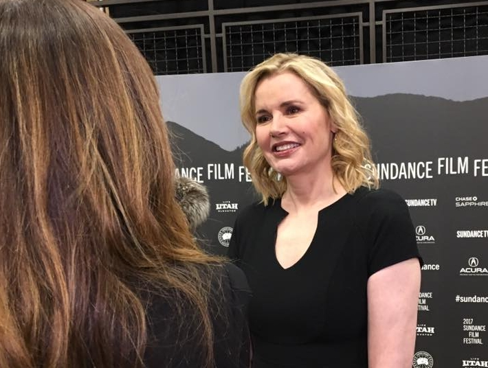 Gina Davis making an appearance at the 2017 Sundance Red Carpet