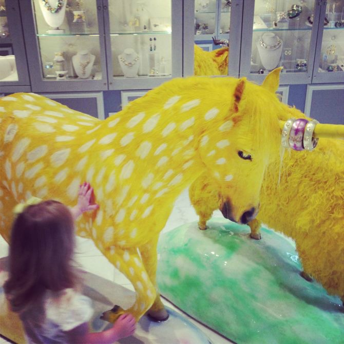 yellow unicorn