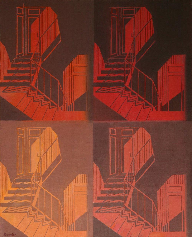 SEQUENCES- NUDE DESCENDING A STAIRCASE II