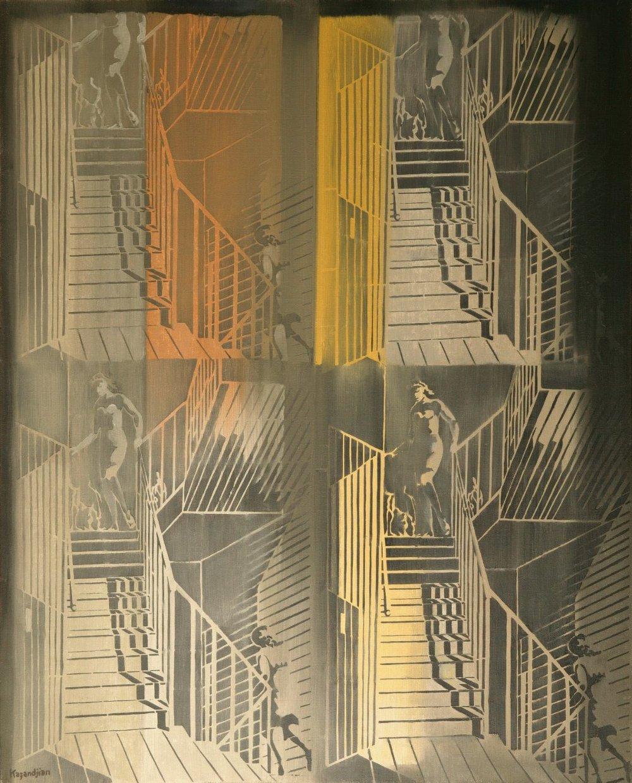 SEQUENCES- NUDE DESCENDING A STAIRCASE 1