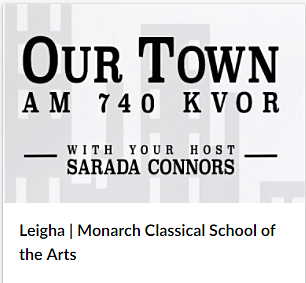 Listen in as Sarada Connors speaks with Leigha and Pauline about Monarch Classical School of the Arts. -